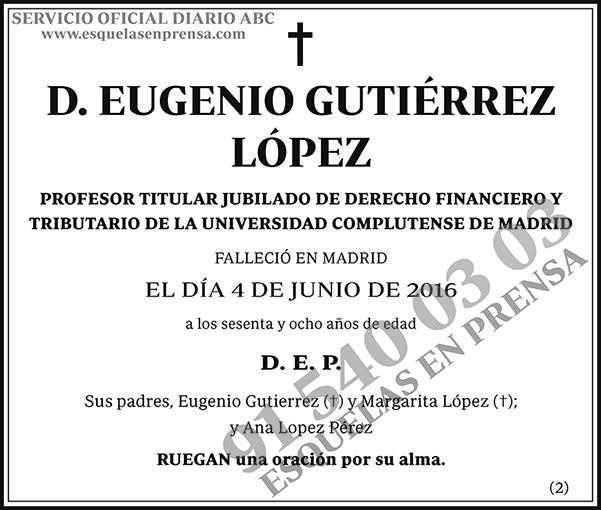 Eugenio Gutiérrez López